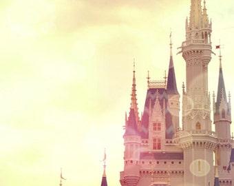 Castle Photograph, Fine Art Photograph, Castle Print, Princess, Nursery, 16x20, Magic, Dreamy, Pretty, photo, cinderella, Beautiful, art