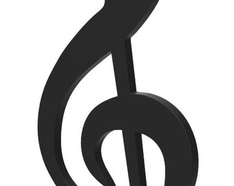 "Wooden G Clef Music Symbol Door or Wall Hanger 12"" tall Wooden G Clef Music Symbol custom made and painted in your choice of color."