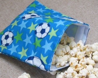 SALE! Reusable Sandwich Bag - Soccer