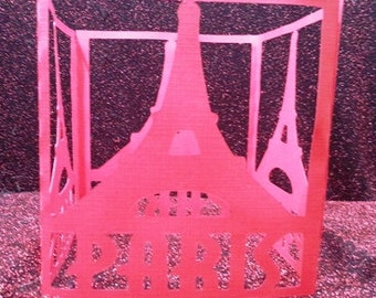DIY framed Eiffel tower Paris centerpiece