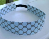 Stretchable Headband with Amy Butler's Full Moon Polka Dot in Slate