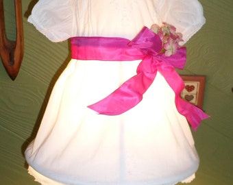 Lamp Shade perfect for Nursery or Young Girls Bedroom.  Vintage Dress.  One of A Kind Lamp Shade