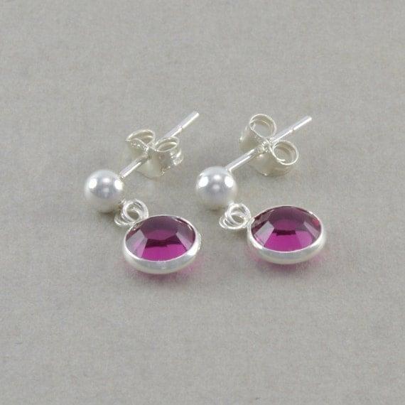 Little Girls Earrings Sterling Silver by SixSistersBeadworks