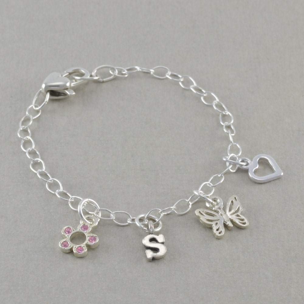 flower bracelets charm bracelet by sixsistersbeadworks