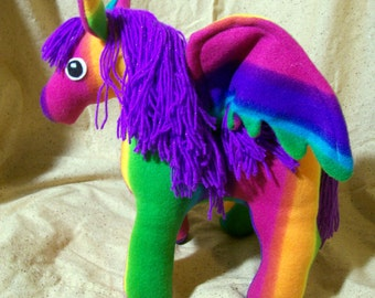 Customizable Pegasus Plush - choose your own colors and patterns