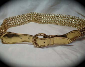 1989 Gole Chain and Gold PLeather Belt.