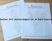 Princess Anna PDF stencil templates for Coronation green dress