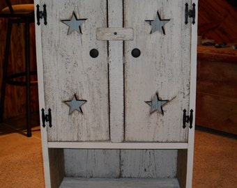 White Barnwood Wall Cabinet