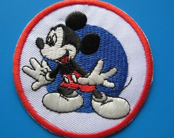 Iron-on Embroidered Patch Mickey Mouse 2.75 inch