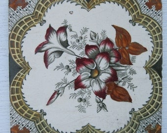 Highly Decorative Original Victorian Tile