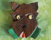 RESERVED for ALIX 1930's Hand Painted Scottie Dog Dress Clip