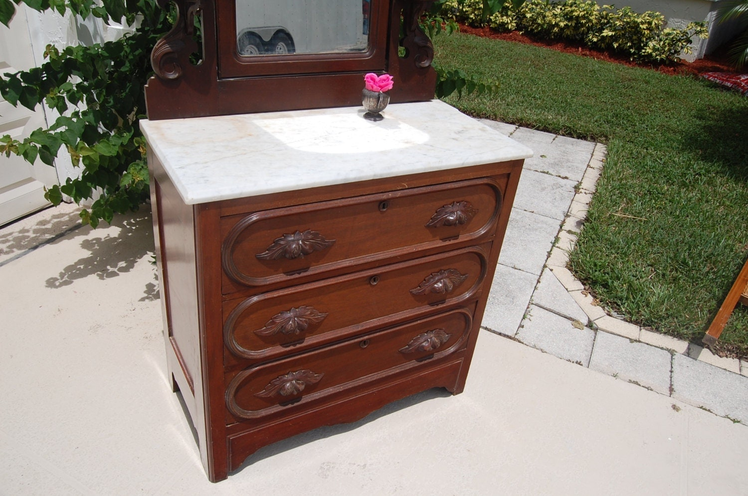 Sold Sold Antique Chest Of Drawers With Mirror By