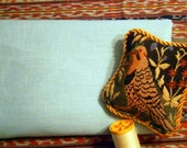 Pure LINEN Robins Egg BLUE ecofriendly fabric sewing supplies home decor from MyGypsyCottage on Etsy