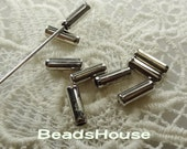 20% off - 100 pcs Silver Plated Stick- Pin Cover,Nickel Free