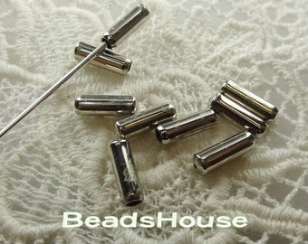 10 pcs Silver Plated Stick- Pin  Cover,Nickel Free