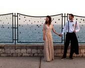 Lace or Chiffon Long Infinity Wrap Dress-Choose your Fabrics- Wedding Gown, Bridesmaids, Maternity, Etc.