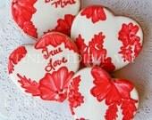 Red Lace Valentine (1 Dozen)