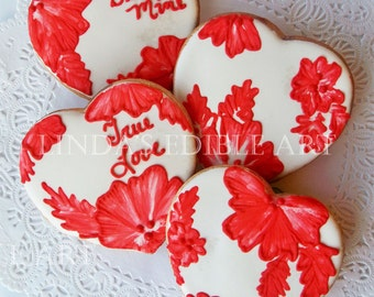 Red Lace Valentine (1 Dozen)