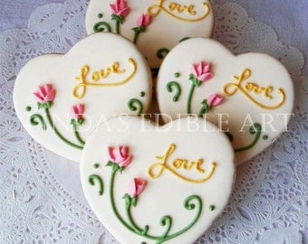 Cottage Rose Heart (1 Dozen)