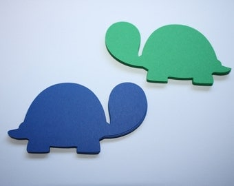 18 x Turtle Die Cuts - Green and Blue