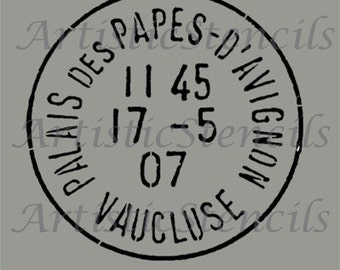 STENCIL Vintage French Postage Stamp - Various sizes