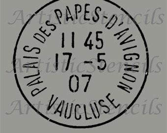 STENCIL Vintage French Postage Stamp 10 Inch