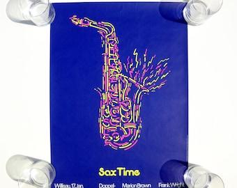 Sax TIme - Frank Wright Quartet Concert Poster - Jazz Festival Willisau - Troxler