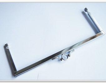 7inch  rectangle kiss lock frame purse clasp clip frame clutch frame double metal purse frames purse making supplies