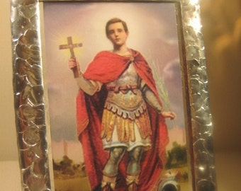 Saint Expedite Stained Glass Holy Prayer Card Keepsake