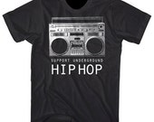 Support Underground Hip Hop Boombox Graphic Villain shirt - ON SALE!