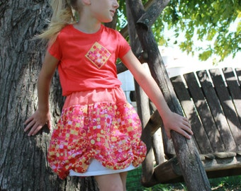 Scalloped Edge Skirt PDF pattern and tutorial - sizes 6months - 10yrs - Girl - By LittleKiwis Closet