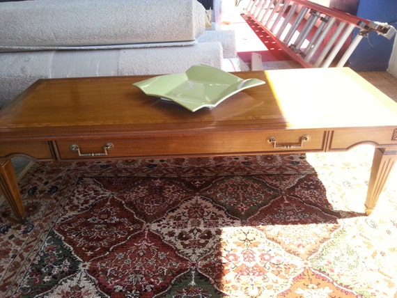 items similar to vintage brandt burlwood coffee and end table on etsy