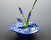 Blue Ikebana Floral Container with Pin-frog,