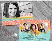 Camouflaged Senior Graduation Announcement No. 4- custom photo templates for photographers on WHCC, Miller's Lab and PDPSpecs