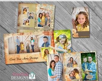 Enchanted Fall 4x8 Accordion Album- custom photo templates for photographers on MPixPro Specs