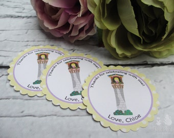 Rapunzel Princess Custom Favor Stickers - Let Down Your Hair Collection