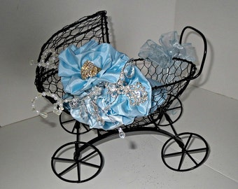 Unique baby  shower centerpiece  Card and wish holder Use a  baby carriage , centerpiece, card holder or wish holder