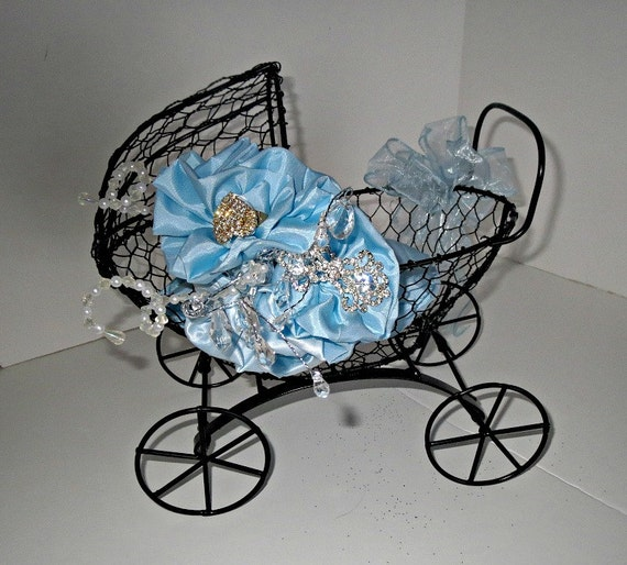 Items similar to baby carriage shower centerpiece card and for Baby carriage decoration