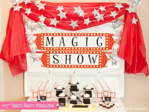 MAGIC TRICK Collection - DIY Printable Magician Birthday Party Decoration // Rabbit // Magician's Hat // Magic Show // Birthday Decor