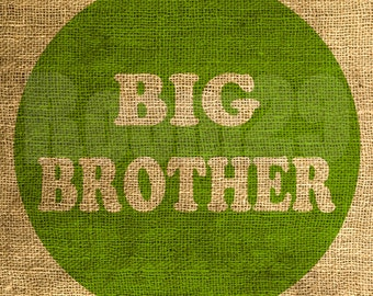 Instant Download - Big Brother in Lime - Download and Print - Image Transfer - Digital Sheet by Room29 Sheet no. 565lime