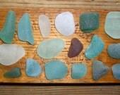 165g GRAB BAG - White, Sea Foam, Green, Brown - Scottish Sea Glass Mix - Mosaic - Craft Project (Seaglass 165)