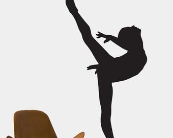 Vinyl Wall Decal Sticker Ballerina Dancer Ballet Girl 208A