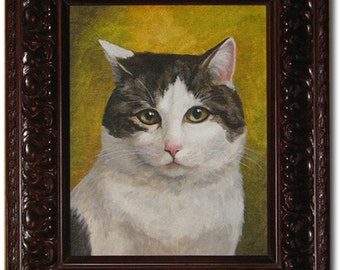 8x10 Custom Painting of Your Cat by Lorina's Pet Portraits Made to Order