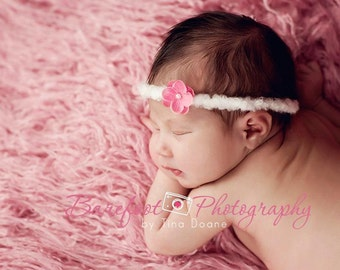 purple newborn headband, ity bitty baby headband, Small Flower Headband, tiny flower, photo prop, purple