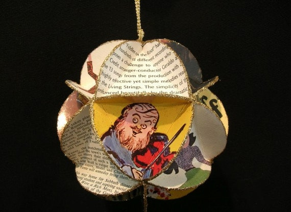 Fiddler On The Roof Album Cover Ornament Made Of Record Jackets - Musical Theater