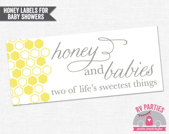 INSTANT DOWNLOAD Bumble Bee Baby Shower Honey Labels JPEG
