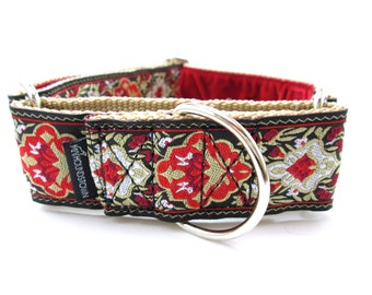 """Houndstown 1.5"""" Red Renni Unlined Martingale Collar Any Size"""