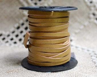 2 Yard Cord Leather Calf Craft Lace 3mm Metallic Gold Lacing