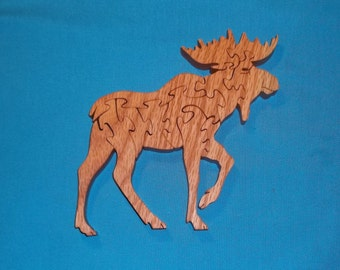 Moose Scroll Saw Wooden Puzzle