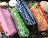 Chevron cosmetic makeup toiletries wash bag dopp kit gift card holder glasses case